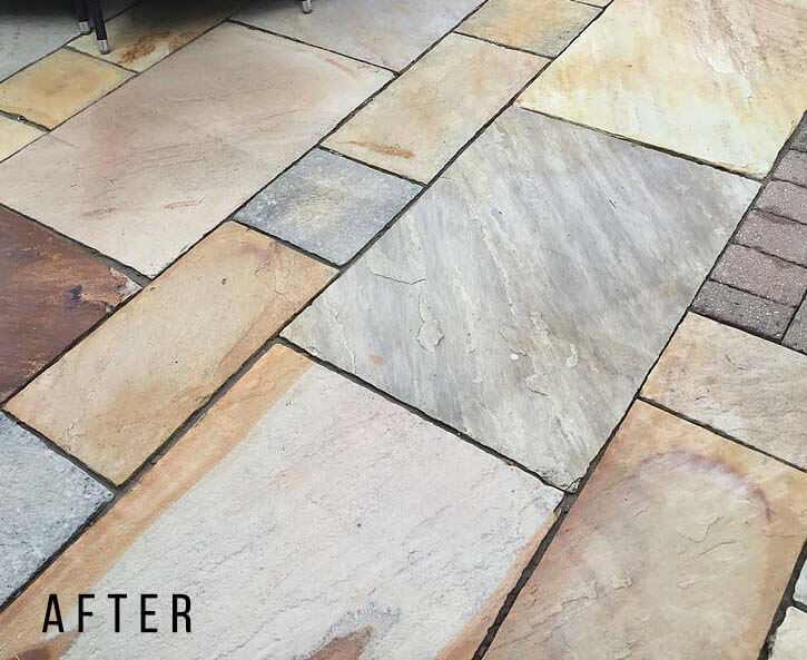 Indian Sandstone - Patio After in Totteridge
