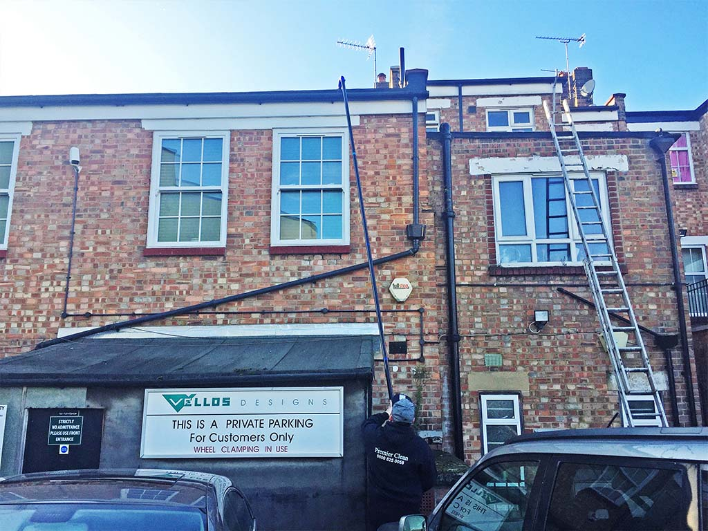Commercial gutter cleaning in Woodford